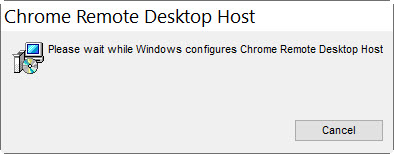 install chrome remote desktop host